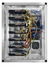 8 GPU MINING RIG NVIDIA 1050Ti 4GB