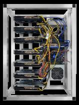 6 GPU MINING RIG AMD RX 6600 8GB