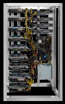 8 GPU MINING RIG XFX Radeon RX 5700 XT  8GB